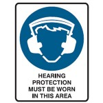 Hearing Protection Picto Hearing Protection Must Be Worn In This Area Sign