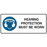 Hearing Protection Picto Hearing Protection Must Be Worn Sign