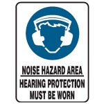 Hearing Protection Picto Noise Hazard Area Hearing Protection Must Be Worn Sign