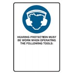 Hearing Protection Picto Sign Metal