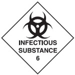 Infectious Substance Class 6.2 Sign
