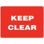 Keep Clear Sign - H225mm x W450mm