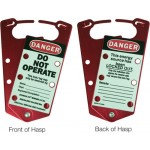Labelled Lockout Hasp