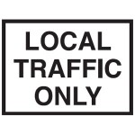 Local Traffic Only Sign 900x600 Be Ref Metal