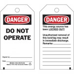 Reverse Lockout Tag - Danger Do Not Operate/Do Not Remove This Tag