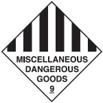 Miscellaneous Dangerous Goods Class 9 Sign