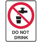 No Drinking Picto Do Not Drink Sign
