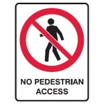No Entry Picto No Pedestrian Access Sign Metal