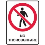 No Entry Picto No Thoroughfare Sign Metal