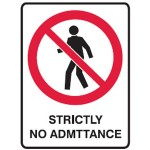 No Entry Picto Strictly No Admittance Sign