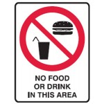 No Food Picto No Food Or Drink In This Area Sign