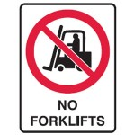 No Forklifts Picto No Forklifts Sign Metal