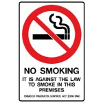 No Smoking Picto It Is Against The Law To Smoke In This Premises Sign