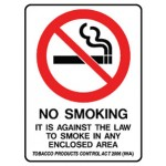 No Smoking Picto Its Against The Law To Smoke In Any Enclosed Area Sign