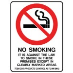 No Smoking Picto Its Against The Law To Smoke In These Premises Except In Clearly Marked Areas Sign