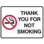 No Smoking Picto Thank You For Not Smoking Sign