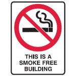 No Smoking Picto This Is A Smoke Free Building Sign