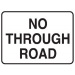 No Through Road Sign 600x400 Ref Alum