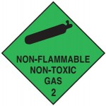 Non Flammable Non Toxic Gas Sign