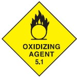 Oxidizing Agent Class 5.2 Sign