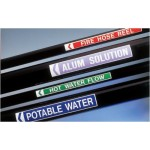 Waste Activated Sludge Pipe Markers Black - H57mm x W475mm