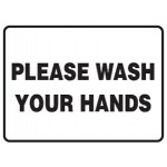 Please Wash Your Hands Sign Self-Adhesive Vinyl - H200mm x W400mm