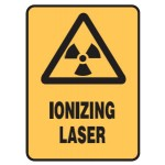 Radiation Picto Ionizing Laser Sign Self-Adhesive Vinyl - H125mm x W90mm