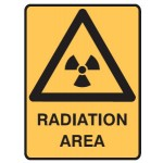 Radiation Picto Radiation Area Sign Metal - H300mm x W450mm