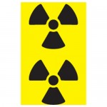 Radioactive Hazard Pipe Markers Black/Yellow