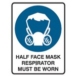 Respirator Picto Half Face Mask Respirator Must Be Worn Sign