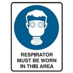 Respirator Picto Respirator Must Be Worn In This Area Sign