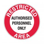 Restricted Area Safety Floor Markers