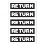 Return Pipe Markers Black/White