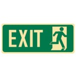 Running Man Picto Exit Sign Photoluminescent - H180mm x W450mm