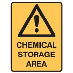 Safety Alert Picto Chemical Storage Area Sign