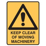 Safety Alert Picto Keep Clear Of Moving Machinery Sign Metal - H450mm x W600mm