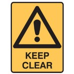 Safety Alert Picto Keep Clear Sign