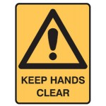 Safety Alert Picto Keep Hands Clear Sign Metal