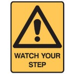 Safety Alert Picto Watch Your Step Sign