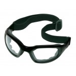 Safety Glasses w/ Arms & Strap Grey Lens
