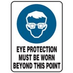 Safety Goggles Picto Eye Protection Must Be Worn Beyond This Point Sign