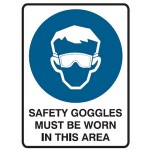Safety Goggles Picto Safety Goggles Must Be Worn In This Area Sign
