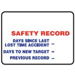 Safety Record Days Sign Metal - H900mm x W1200mm