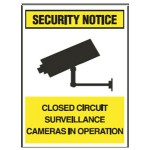 Security Notice Closed Circuit Surveillance Cameras In Operation Sign Metal - H450mm x W300mm