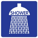 Shower Picto Shower Sign Metal - H200mm x W200mm