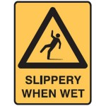 Slip Picto Slippery When Wet Sign Metal
