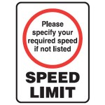 Speed Limit Sign 450x600 Reflective Metal