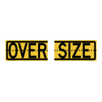 Oversize Sign Split Hinged 510x250mm
