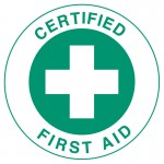 Hard Hat Label - Certified First Aid