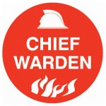 Hard Hat Label - Chief Fire Warden